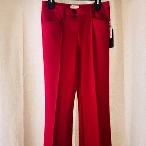 NWT The essential trouser by Anthropologie in red